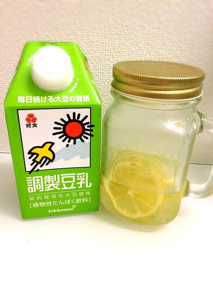 レモン、豆乳